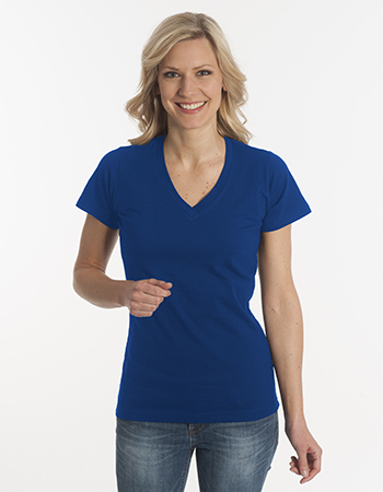 SNAP Damen T-Shirt Flash-Line, V-Neck 100% Baumwolle 190g